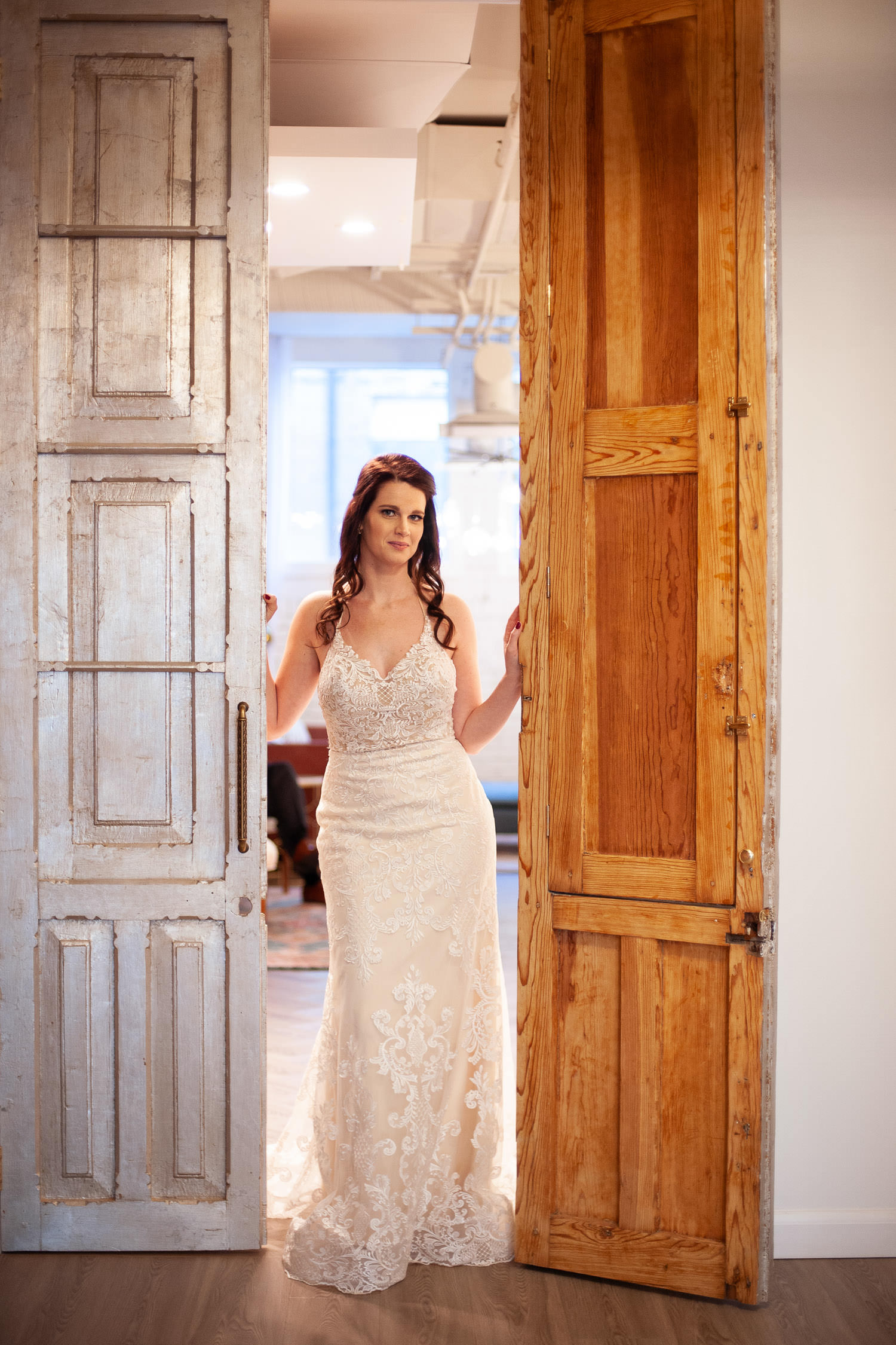 Bride inside Venue 308 captured by Tara Whittaker Photography