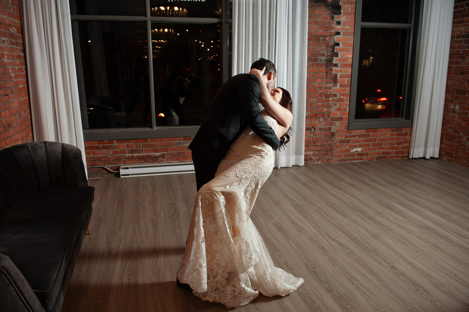 bride and groom during their first dance at Venue 308 captured by Tara Whittaker Photography