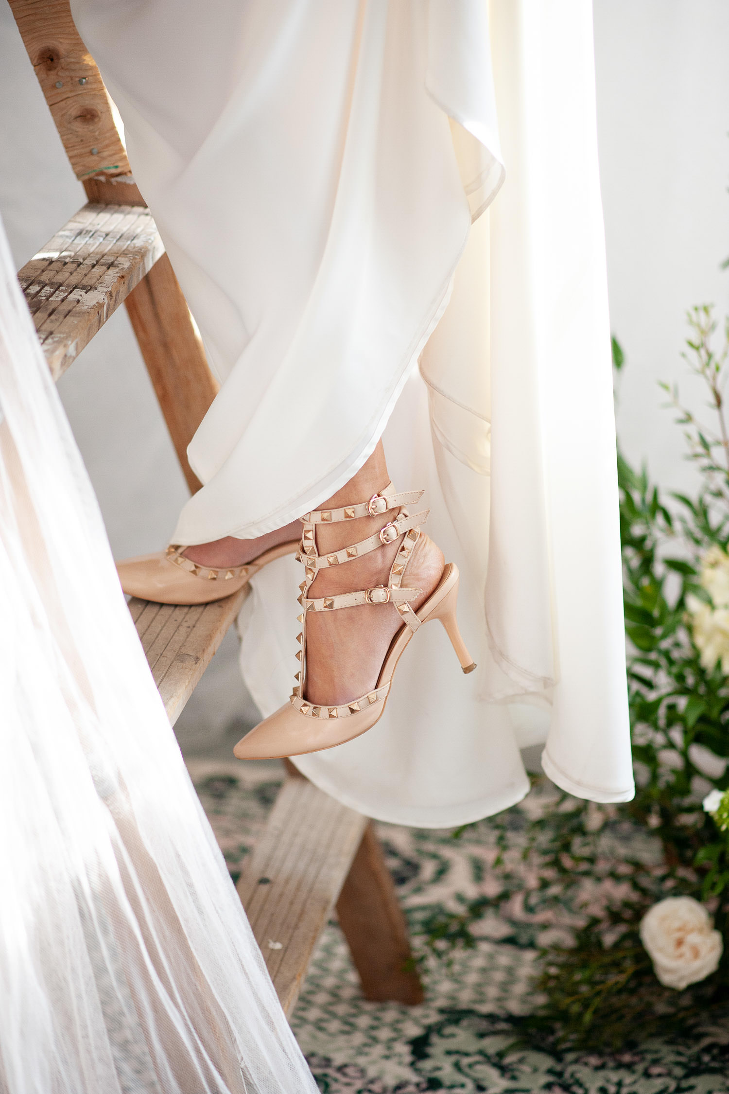 the bride's Valentino shoes captured by Tara Whittaker Photography