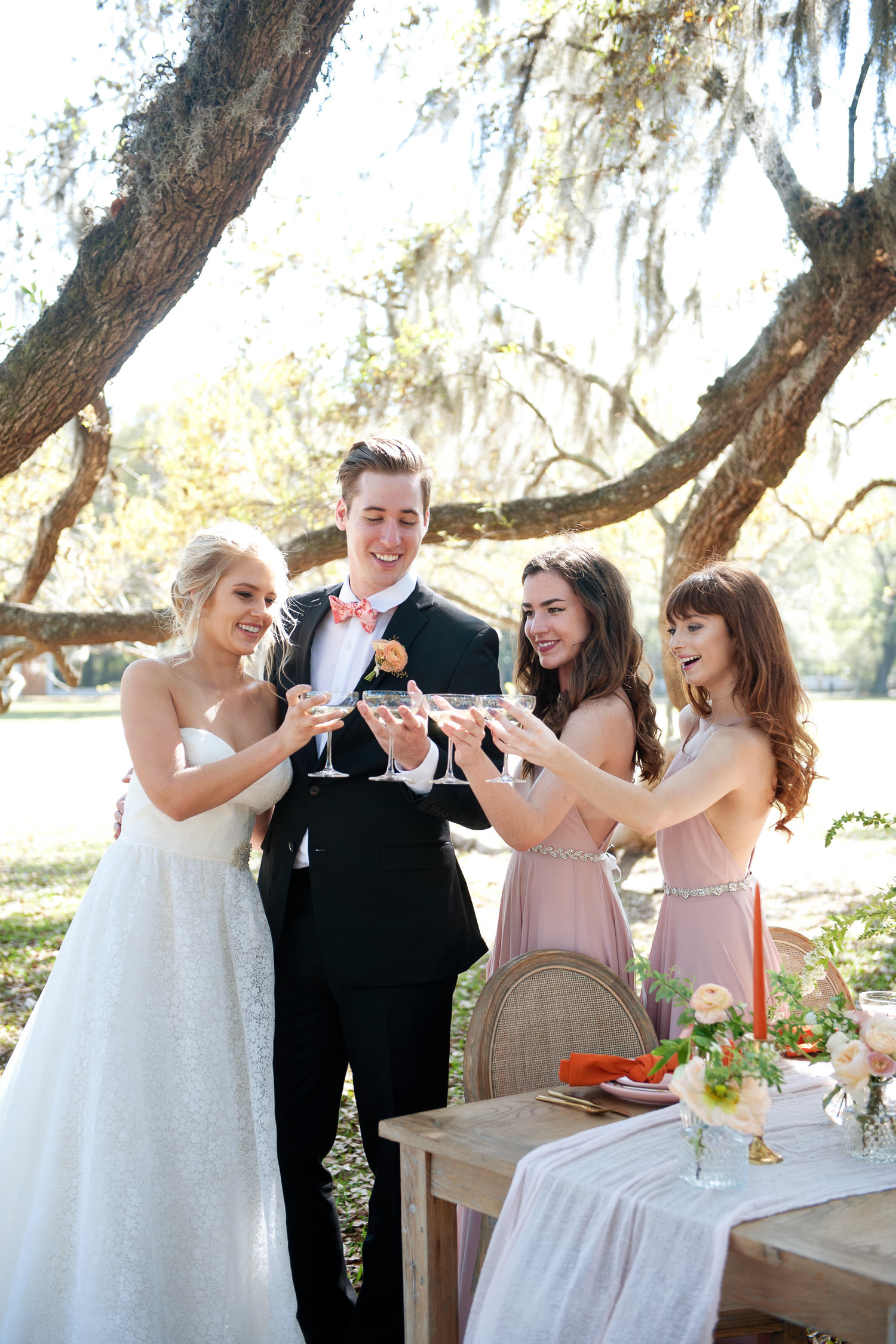 Toast at a garden wedding at Middleton Place captured by Tara Whittaker Photography