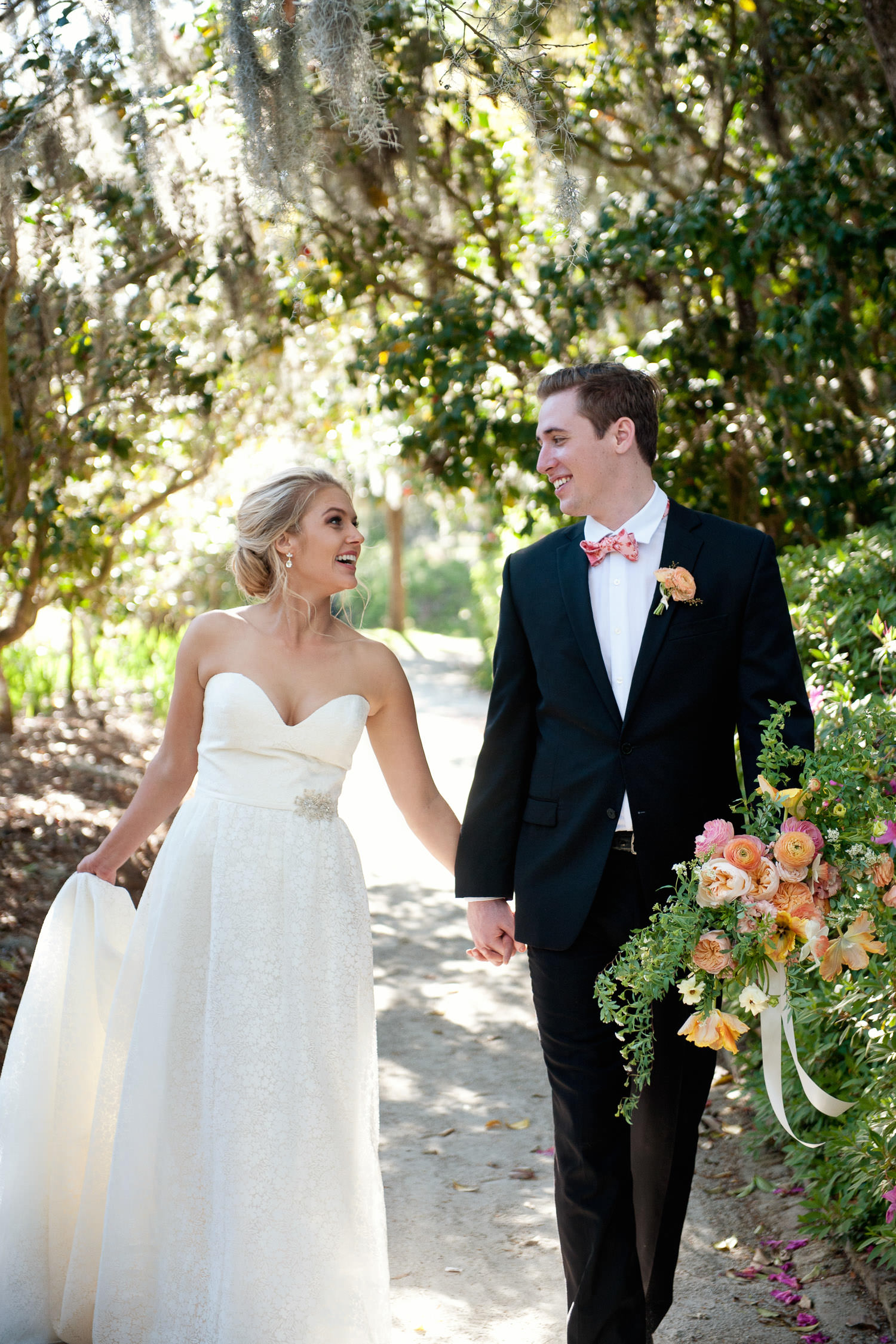 Bride & groom after their wedding captured by Tara Whittaker Photography