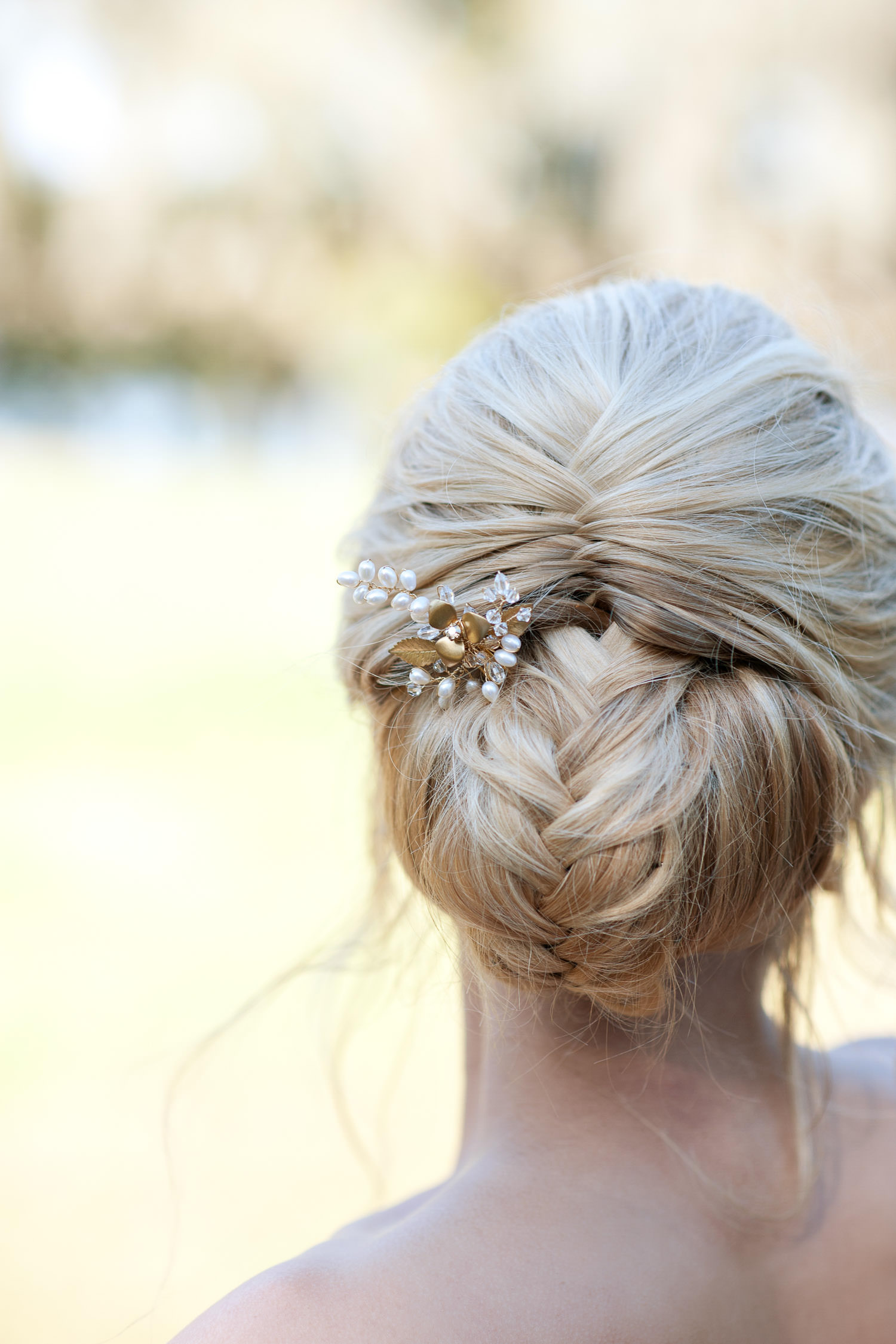 Classic updo for a modern bride captured by Tara Whittaker Photography