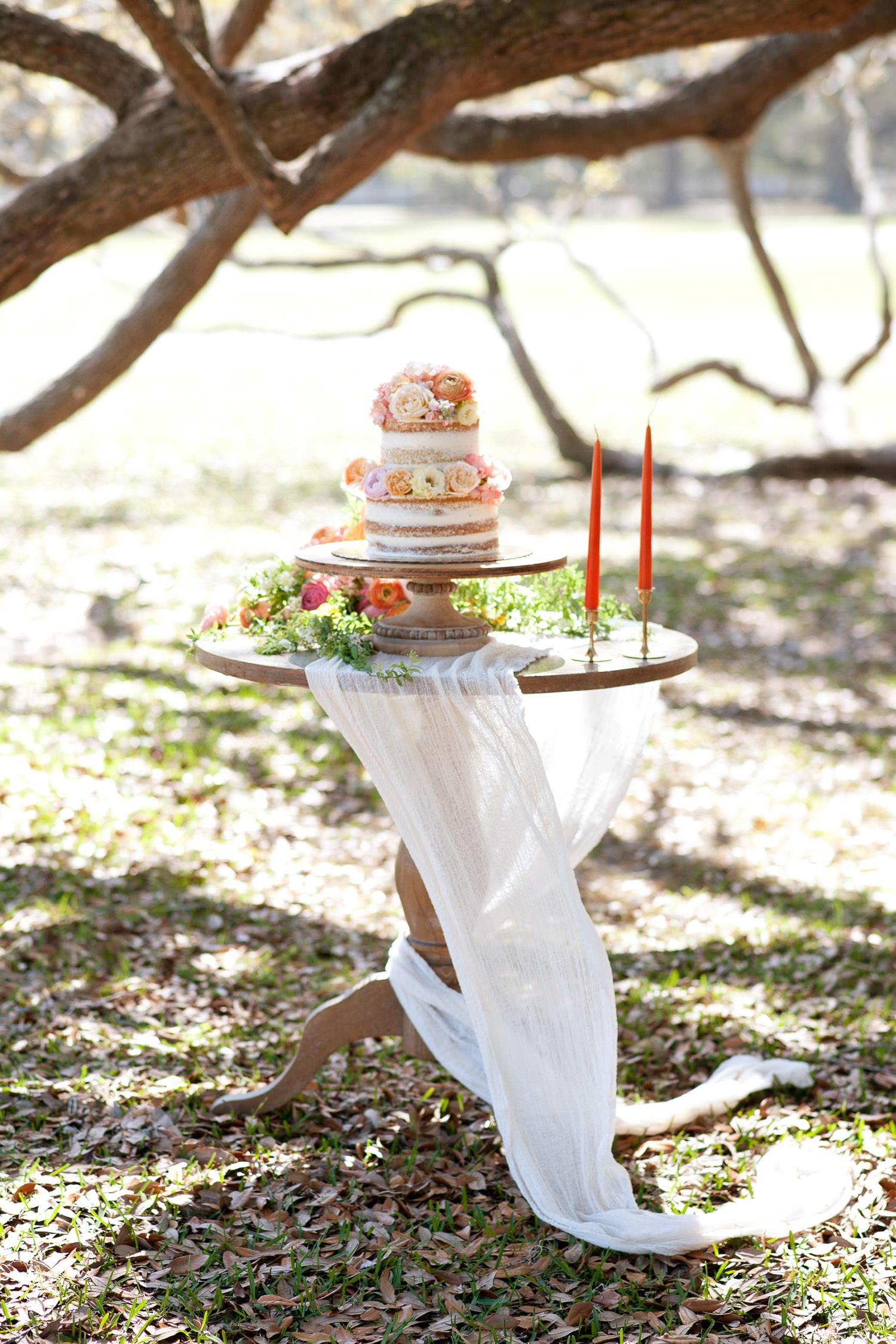 wedding cake inspiration for a garden wedding captured by Tara Whittaker Photography