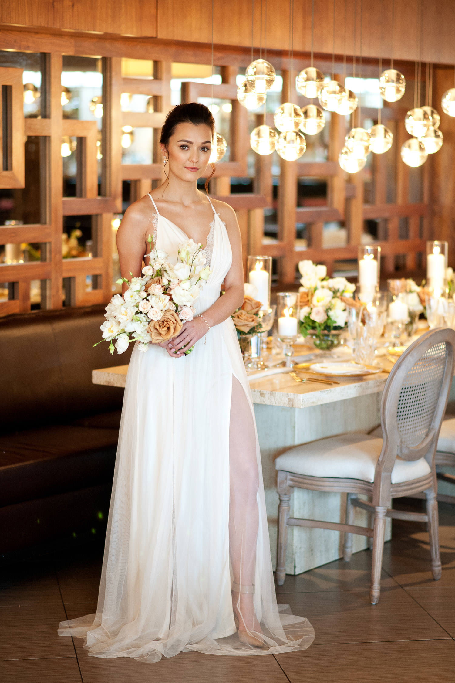 bride at her Alloy Restaurant wedding captured by Tara Whittaker Photography
