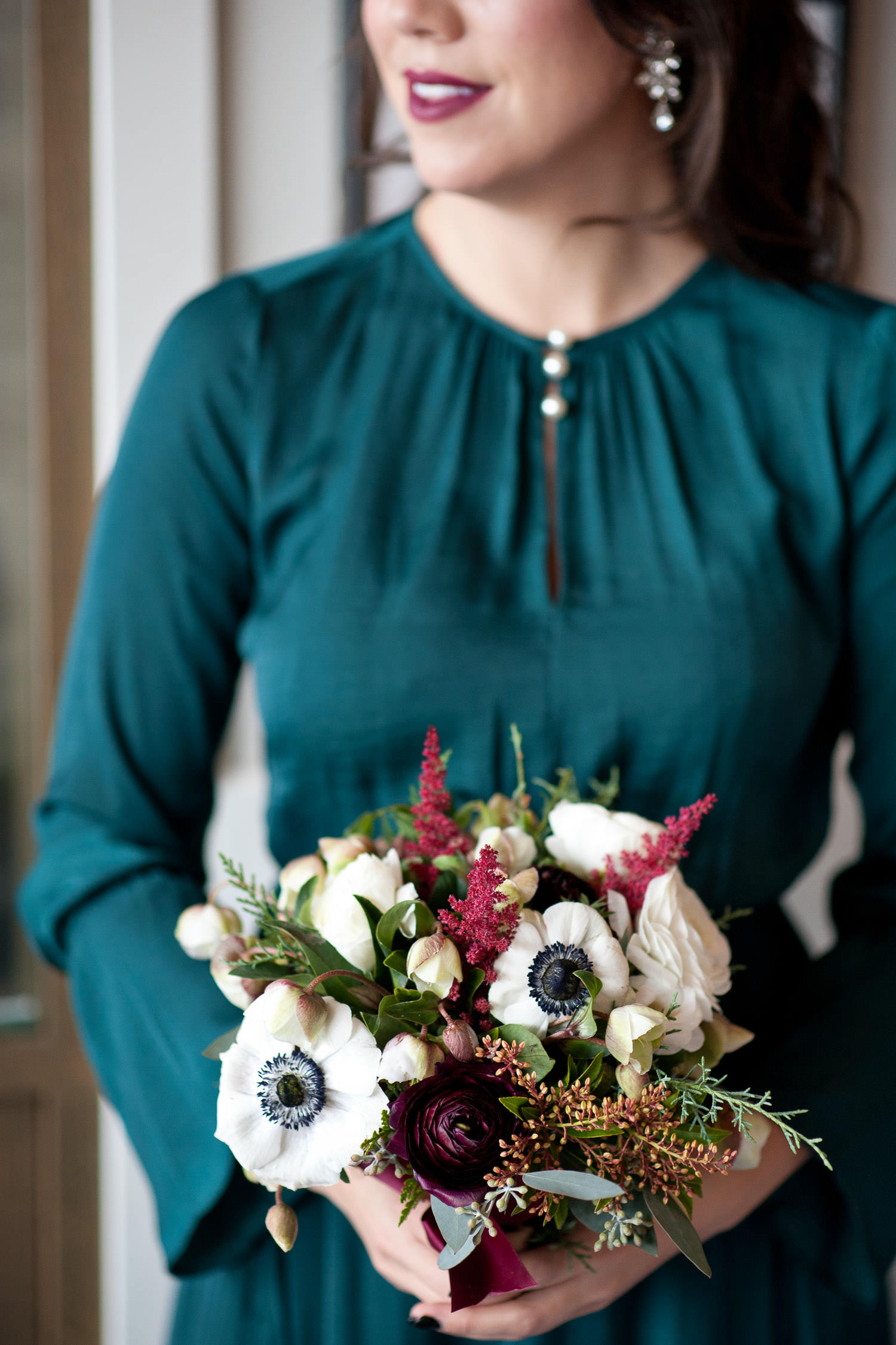 Panda anemones and other winter blooms captured by Tara Whittaker Photography