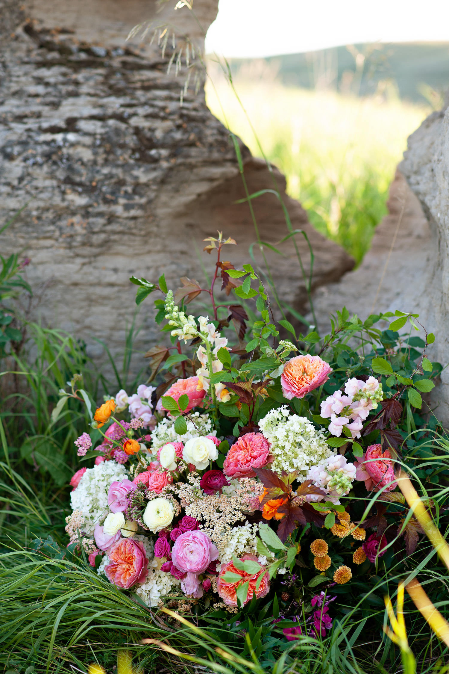 large floral arrangement from Flowers by Janie captured by Tara Whittaker Photography